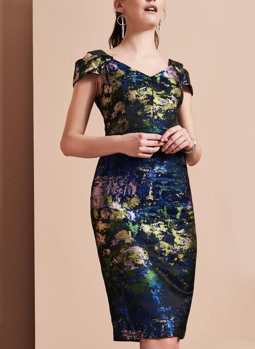 Maggy London - Cold Shoulder Dress , Multi, hi-res