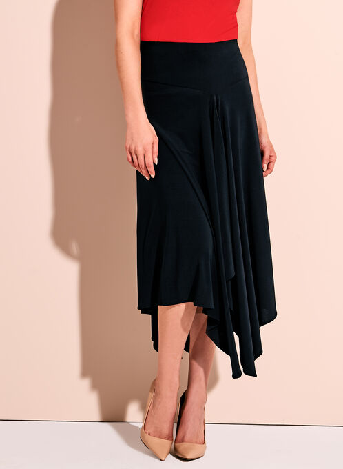 Asymmetric Handkerchief Skirt, Blue, hi-res
