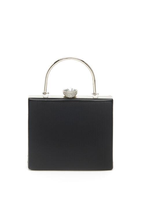 Jewel Closure Clutch, Black, hi-res