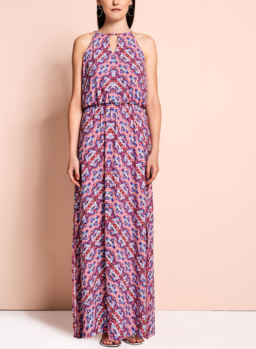 Maggy London Abstract Print Maxi Dress