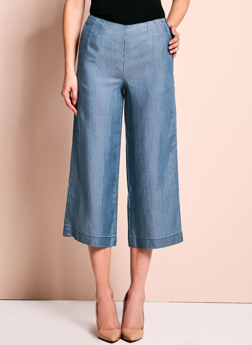 High-Waisted Cropped Culottes