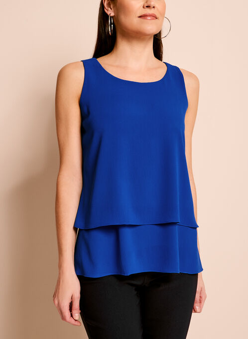 Sleeveless Double Layer Crepe Blouse