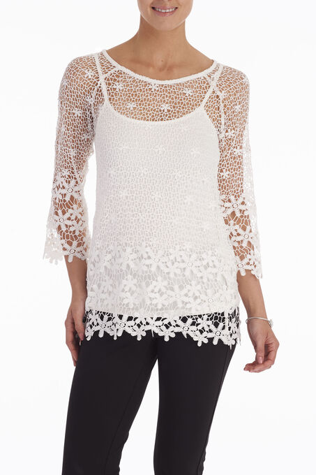 Crochet Lace Blouse with Camisole FREE Shipping ...