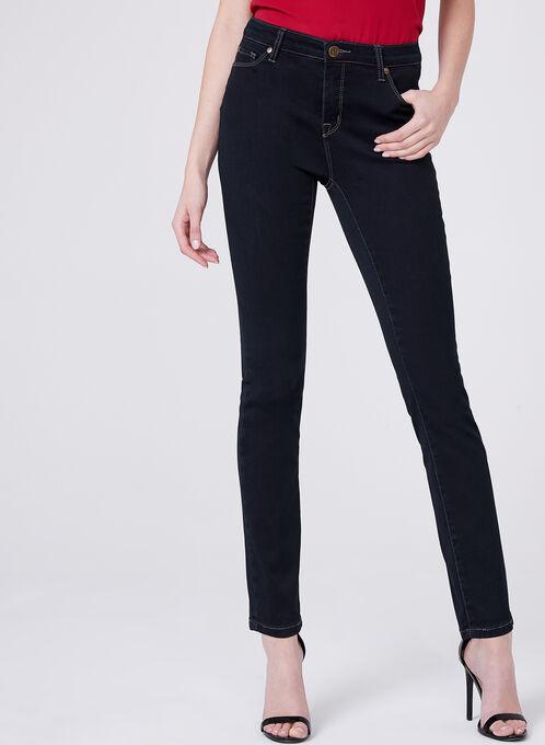Slim Leg 5-Pocket Jeans , Blue, hi-res