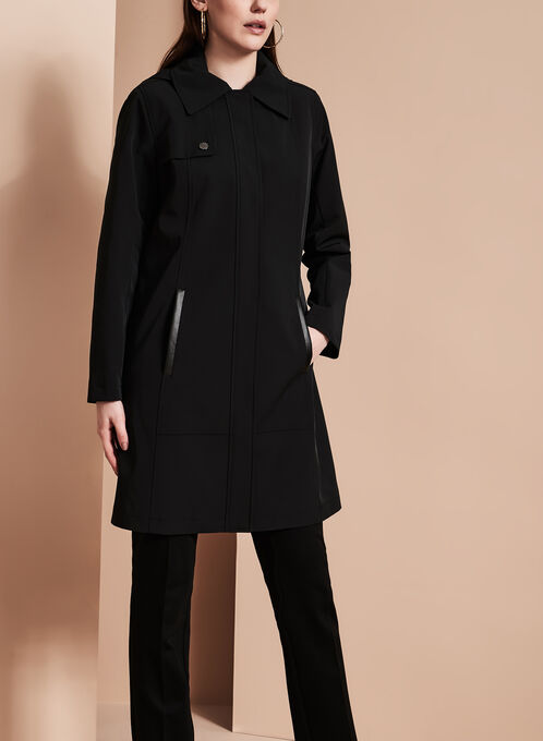 Nuage - Single-Breasted Trench Coat, Black, hi-res