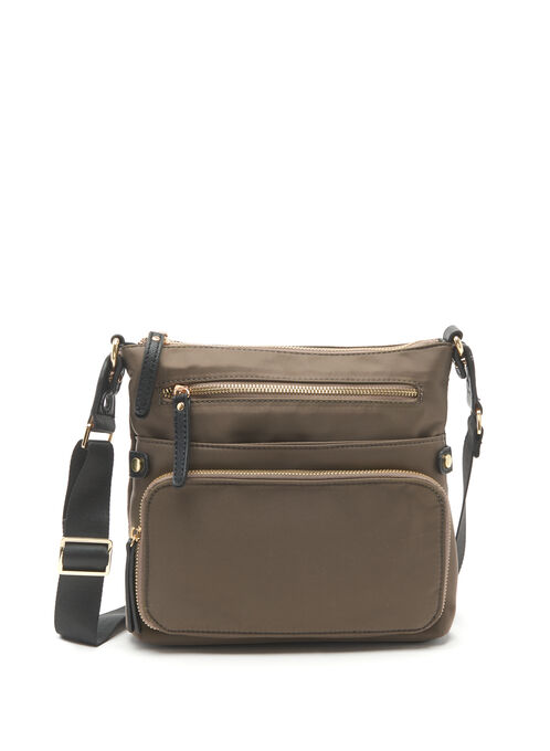 Nylon Crossbody Bag, Green, hi-res