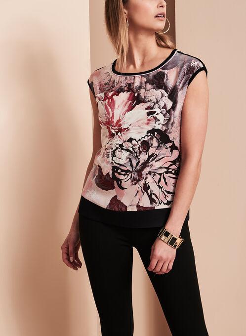 Vex Floral Print Blouse, Black, hi-res