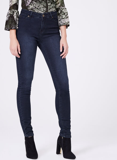 High Rise Slim Leg Jeans