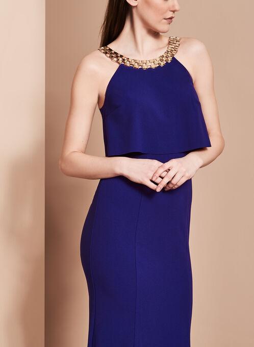 Decode 1.8 - Halter Neck Popover Dress, Blue, hi-res