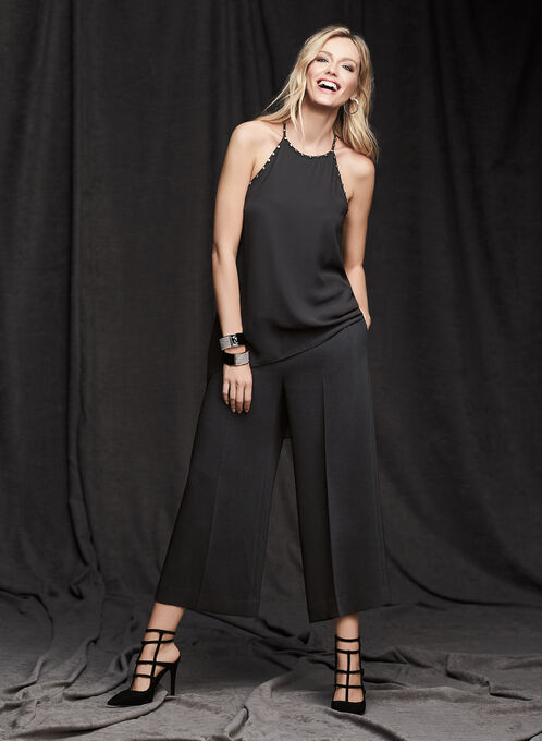 Louben - Wide Leg Culottes, Black, hi-res
