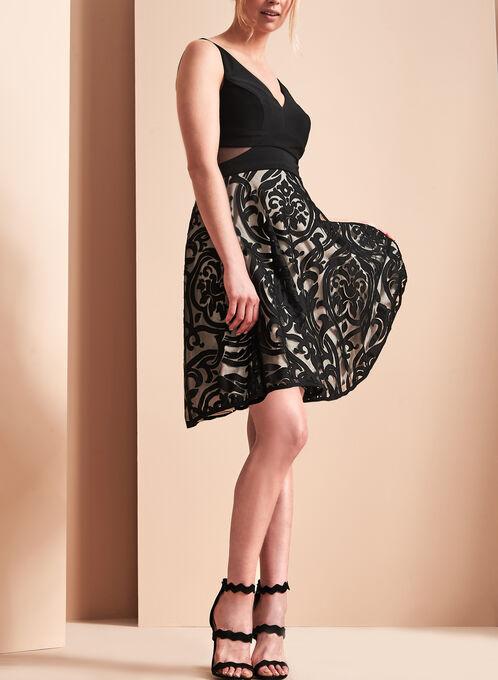 BA Nites Fit & Flare Dress, Black, hi-res