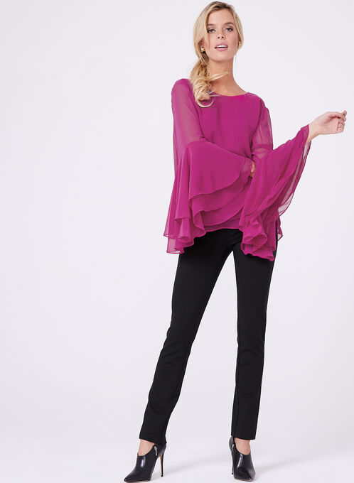 Double Layer Chiffon Blouse, Red, hi-res