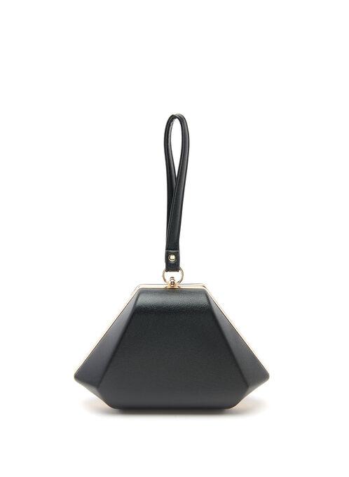 Pyramid Box Clutch, Black, hi-res