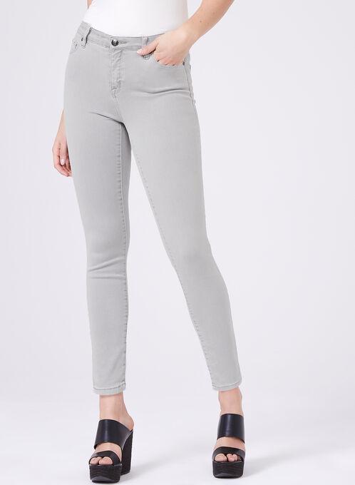 Slim Leg Ankle Jeans , Grey, hi-res