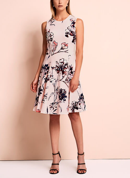 Ivanka Trump Floral Scuba Dress, Multi, hi-res