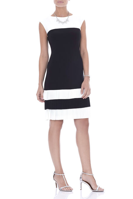 Frank Lyman Fringe Detail Dress, Black, hi-res