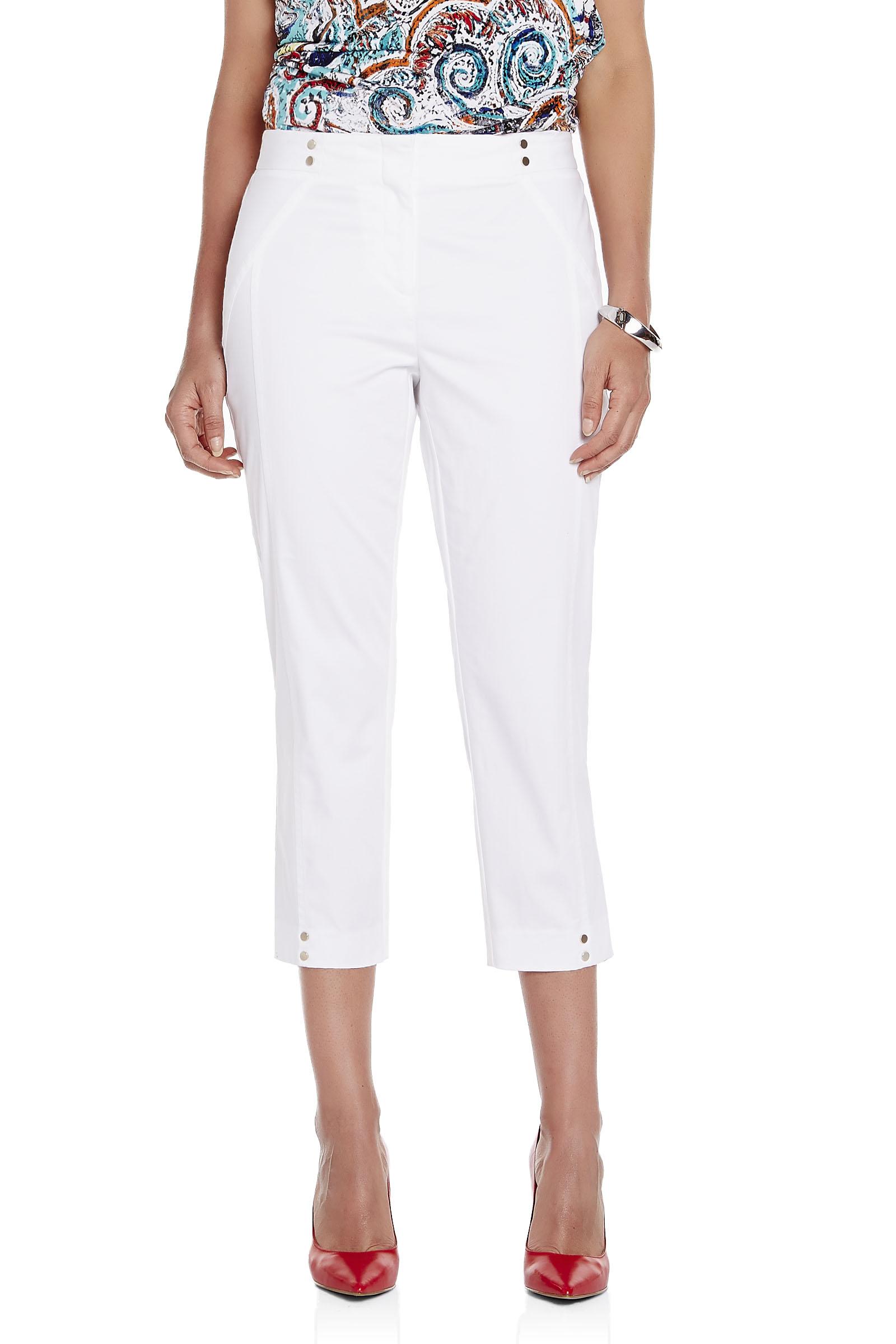 Snap Detail Cotton Sateen Capri Pants | FREE Shipping* | Melanie Lyne