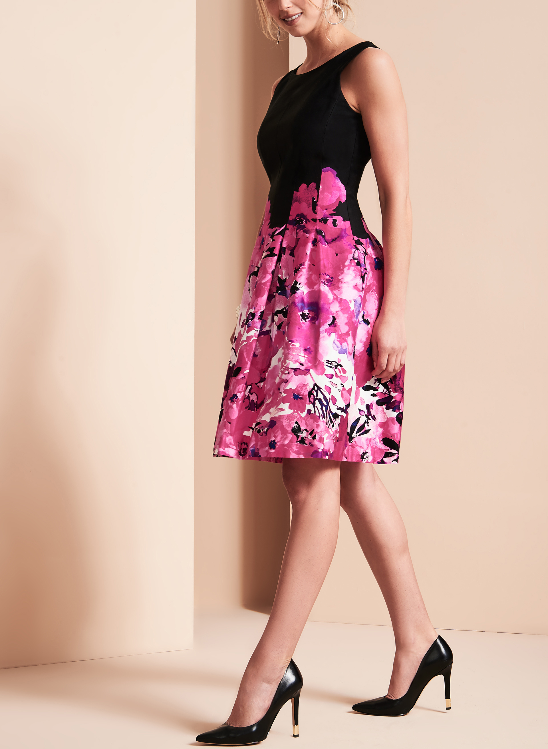 Floral Print Fit Amp Flare Dress Free Shipping Melanie Lyne