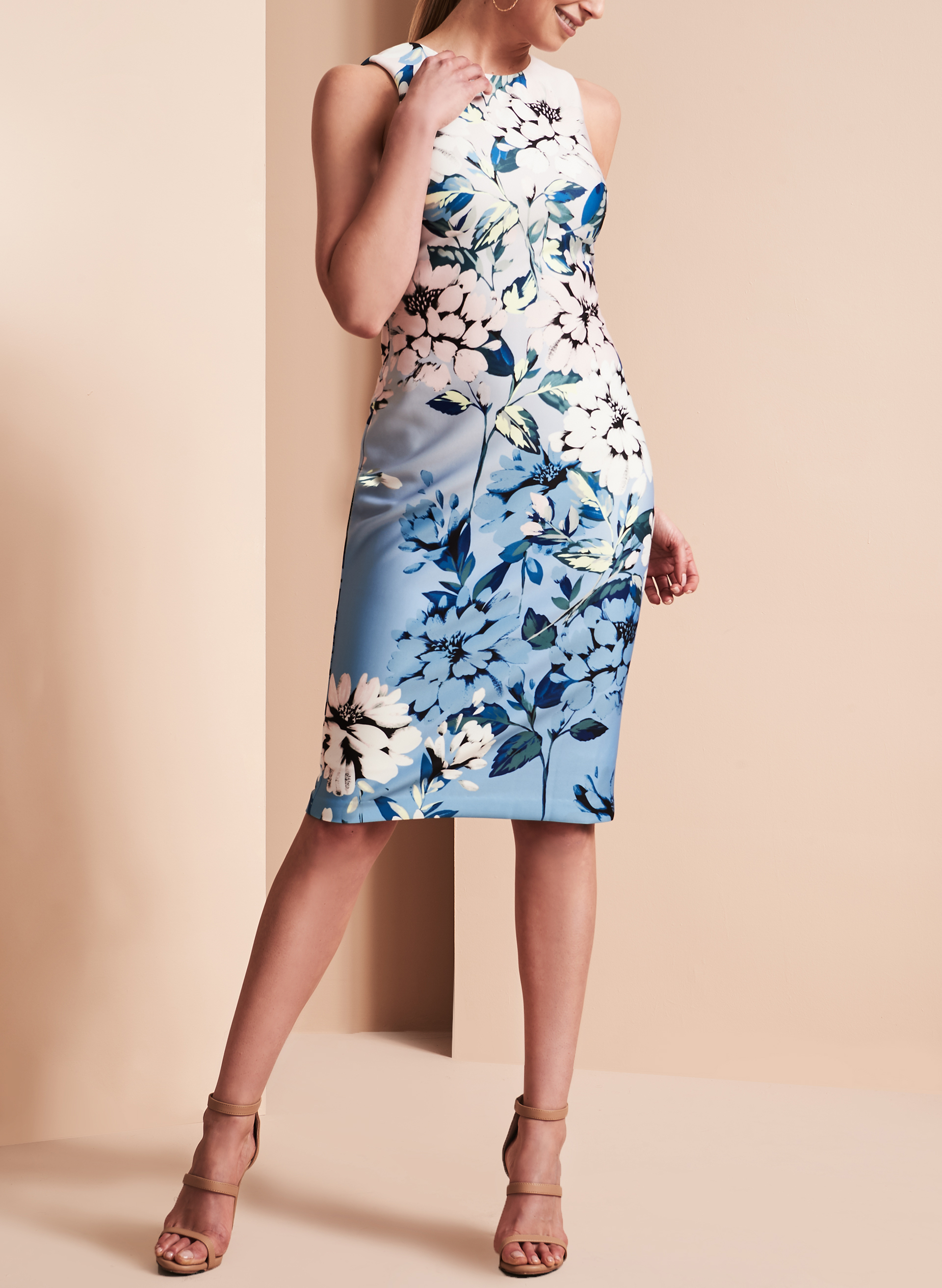 Vince Camuto Floral Print Scuba Dress Free Shipping