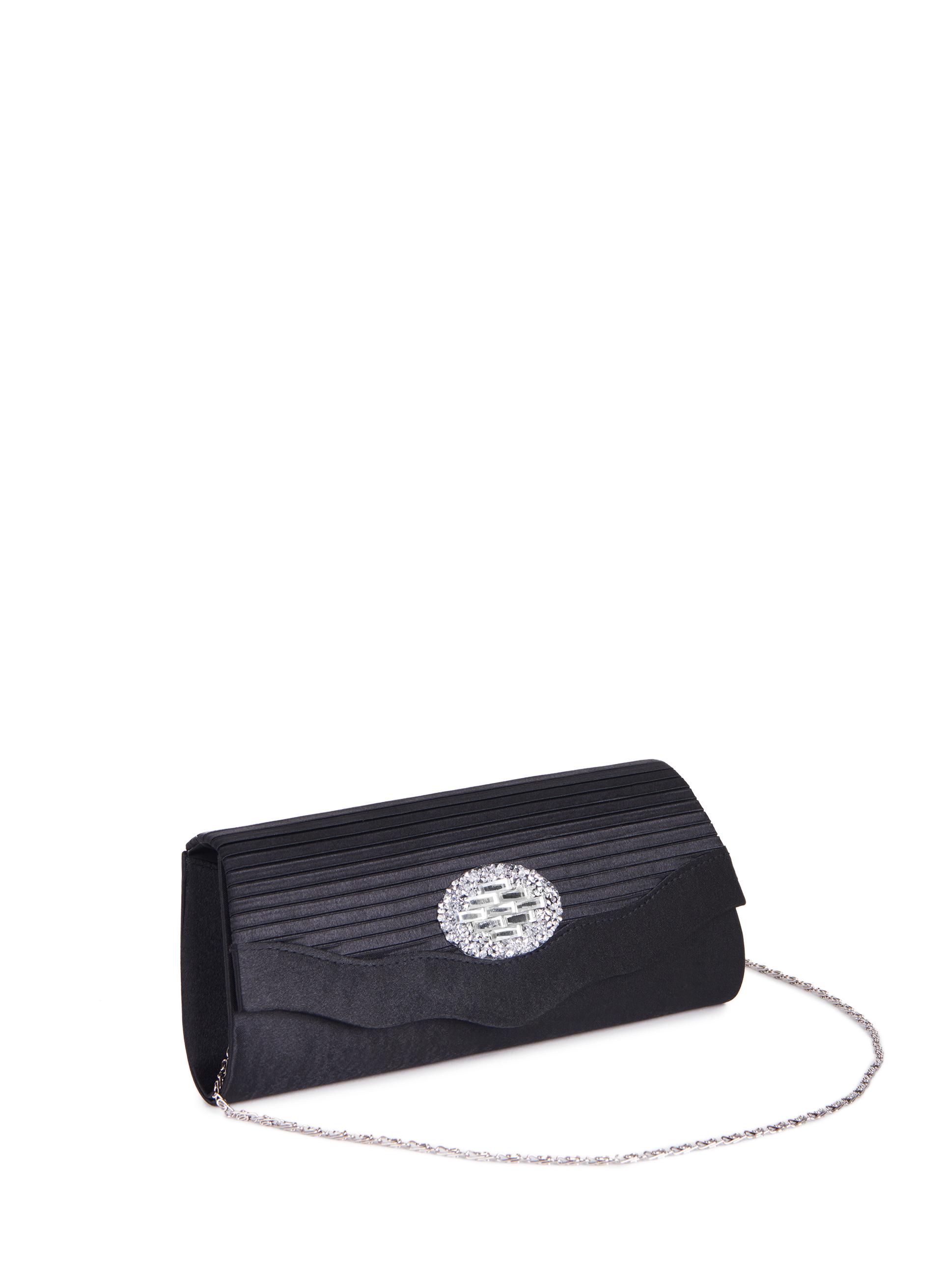 pochette de soir e satin e avec bijoux d coratifs livraison gratuite melanie lyne. Black Bedroom Furniture Sets. Home Design Ideas