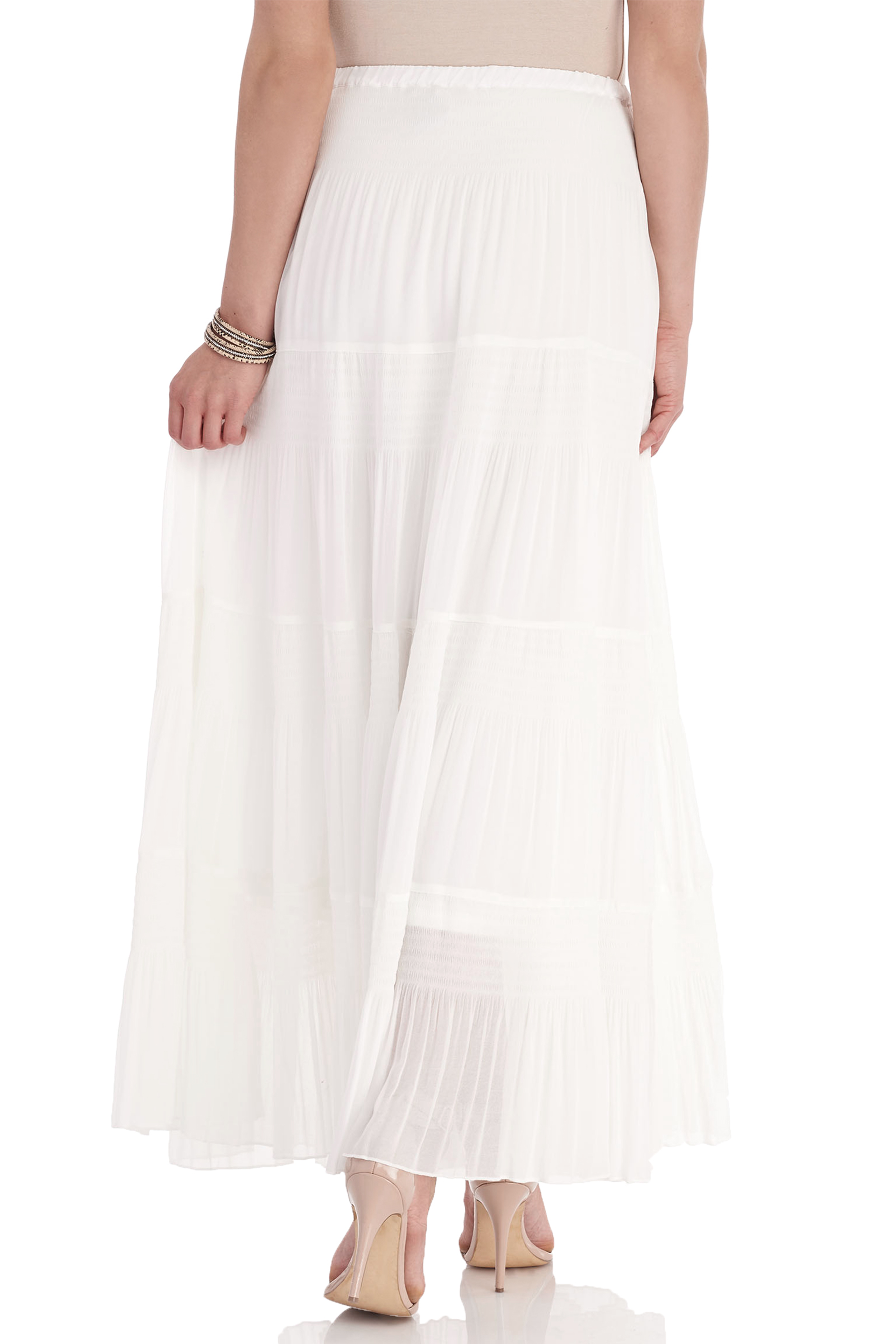 Chiffon Crinkle Detail Maxi Skirt | FREE Shipping* | Melanie Lyne