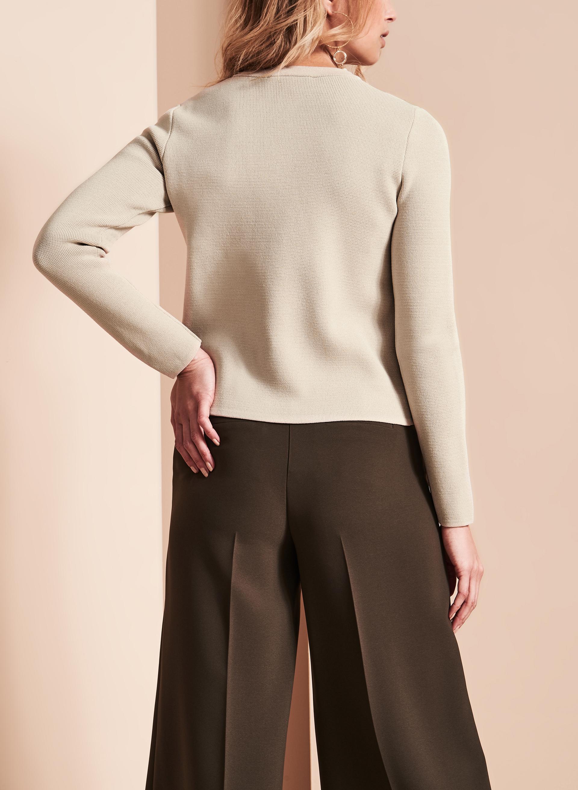 Knitting Cardigan Collar : Notch collar knit cardigan free shipping melanie lyne