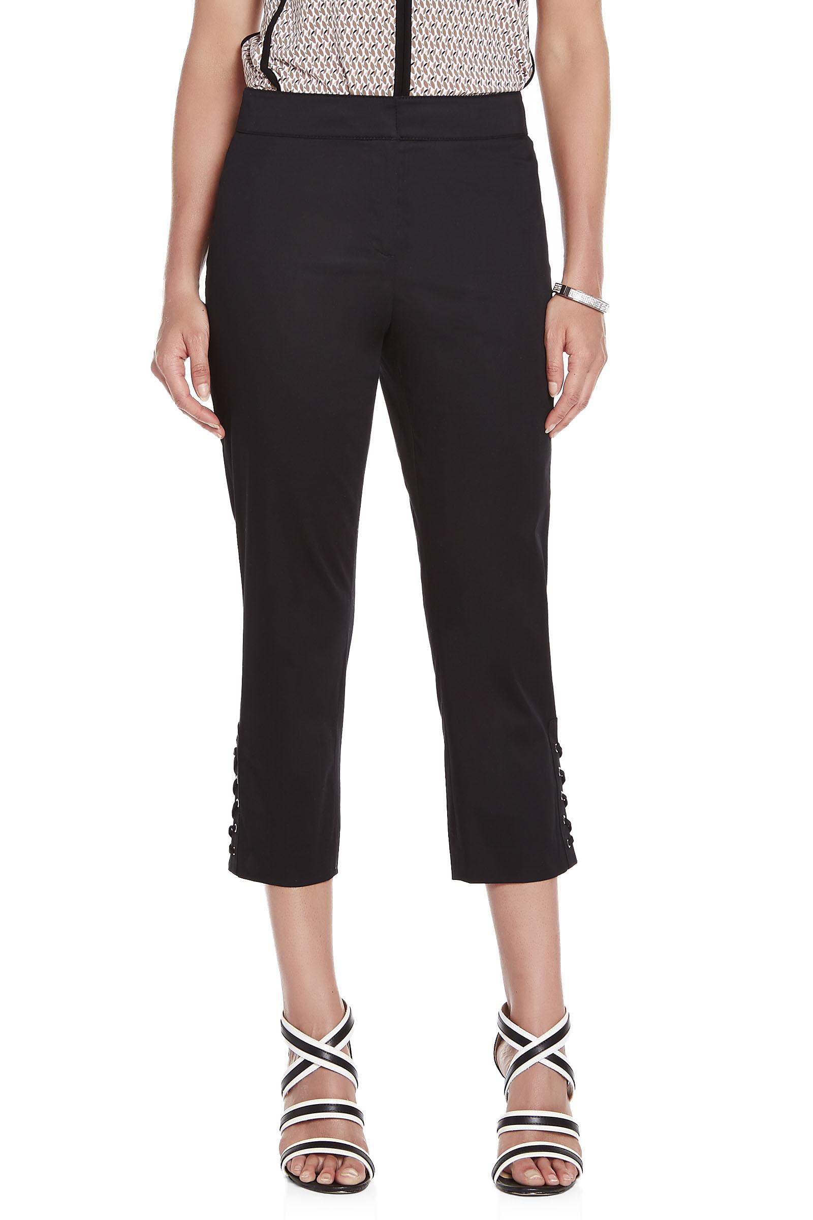 Lacing Trim Cotton Sateen Capri Pants | FREE Shipping* | Melanie Lyne