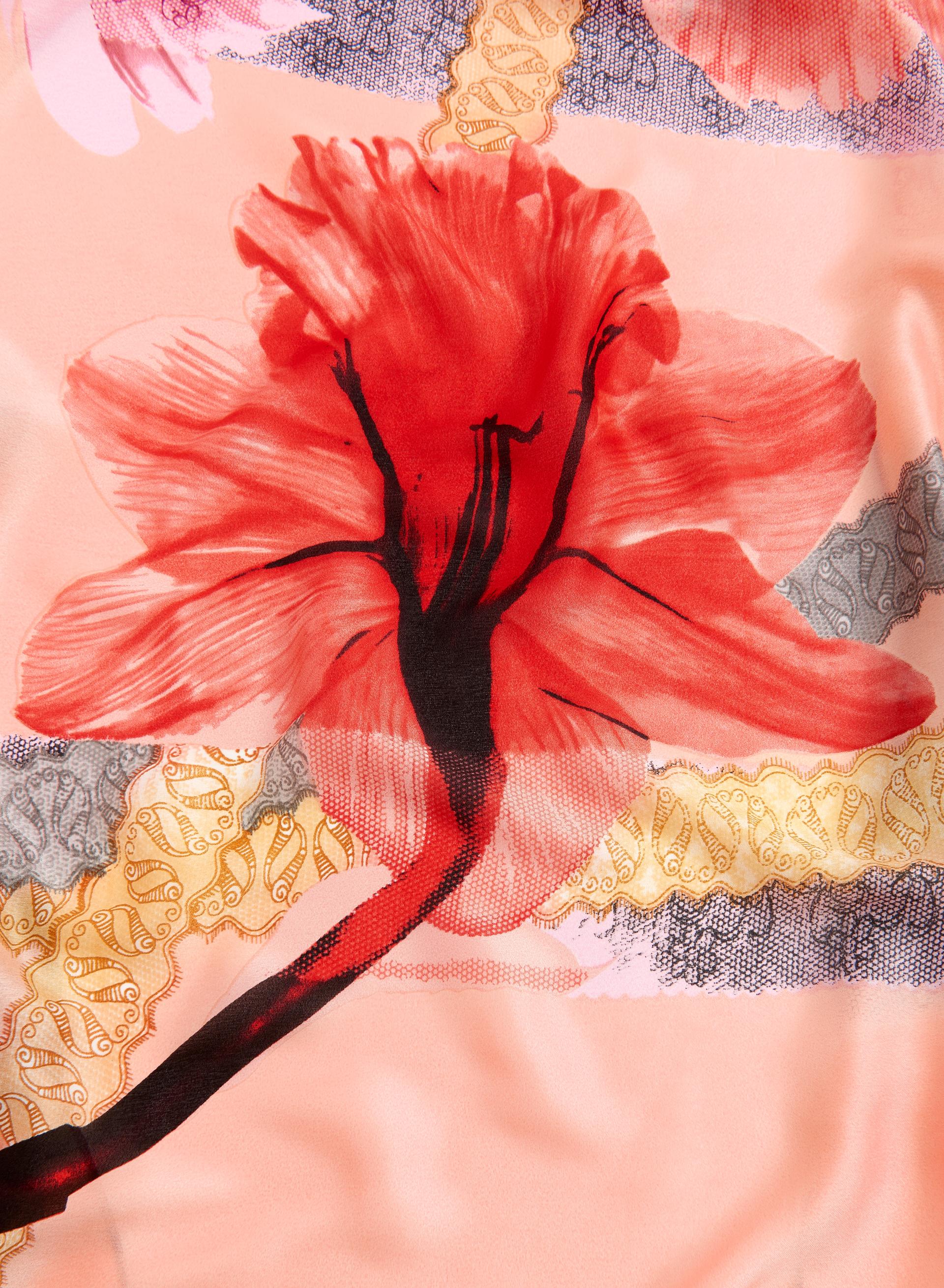 foulard motif de dentelle et de fleurs livraison. Black Bedroom Furniture Sets. Home Design Ideas