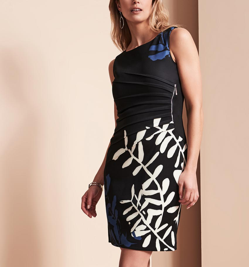 Ivanka Trump Printed Scuba Dress