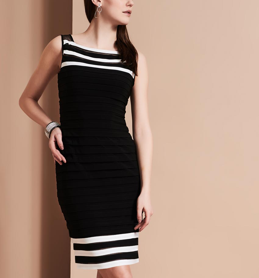 Adrianna Papell Tiered Jersey Dress