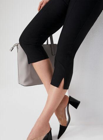 Pull-On Bengaline Capri Pants, Black, hi-res