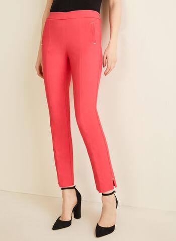 City Fit Slim Leg Pants, Red,  pants, city fit, pull-on pants, elastic pants, comfortable, slim leg, slim leg pants, classic pants, spring 2020, summer 2020
