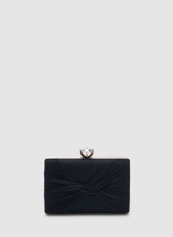 Rectangular Glitter Box Clutch, Blue,  clutch, box clutch, rectangular, glitter, crystal, fall 2019, winter 2019