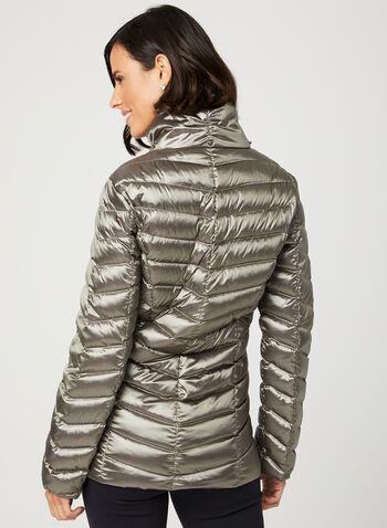 Lightweight Packable Down Coat, Silver, hi-res
