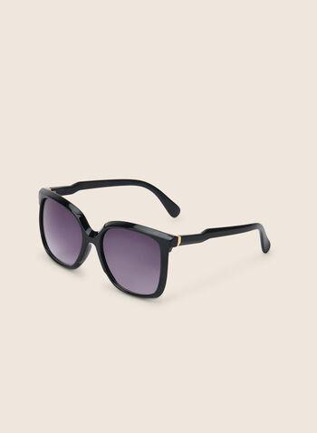 Lunettes de soleil en plastique, Noir,  printemps été 2020, accessoire, lunettes, lunettes de soleil