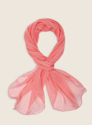 Foulard pashmina en mousseline, Orange,  foulard, pashmina, mousseline, printemps été 2020