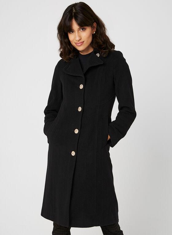 Anne Klein - Cashmere Blend Coat, Black, hi-res