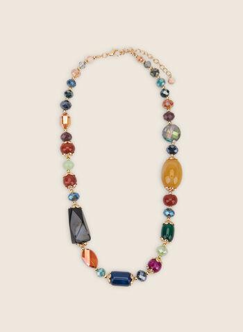 Collier de pierres mélangées, Multi,  collier, pierres mélangées, doré, printemps été 2020