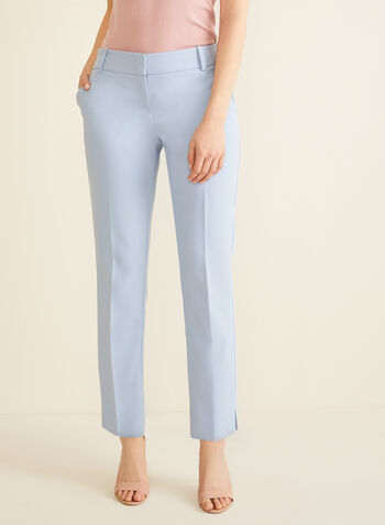 Modern Fit Straight Leg Pants, Blue,  pants, trousers, mid rise, Modern Fit, straight leg, contour waist, shaped hips, spring 2020, summer 2020