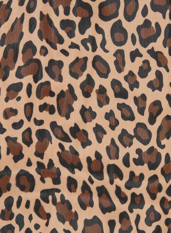 Foulard à imprimé léopard , Brun, hi-res,  automne hiver 2019, foulard, imprimé animal