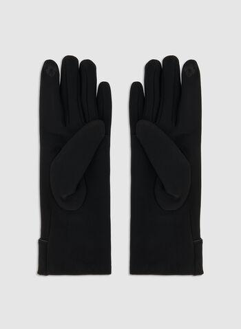 Gants à détails boutons, Noir, hi-res,  gants, rabat, boutons, automne hiver 2019