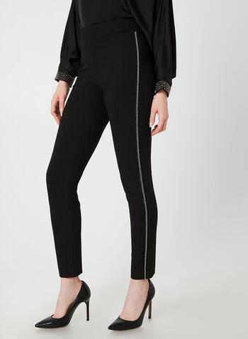 City Fit Straight Leg Pants, Black,  glitter trims, mid-rise, slim thighs, straight leg, city fit, straight hips, contour waist, fall 2019