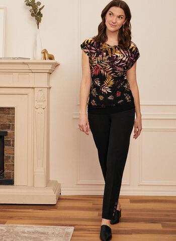 Tropical Print Short Sleeve Top, Multi,  top, short sleeves, tropical, jersey, spring summer 2020