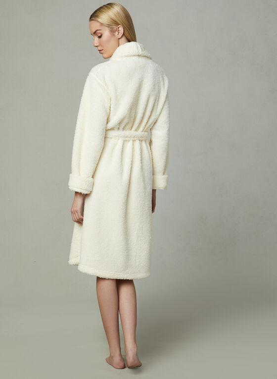 Kathy Ireland - Fleece Robe, White, hi-res