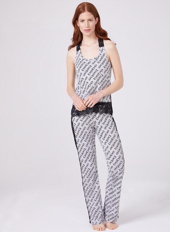 Bebe - Pyjama 2 pièces avec dentelle, Gris, hi-res