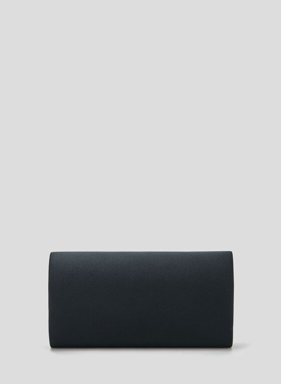 Satin Envelope Clutch, Blue, hi-res