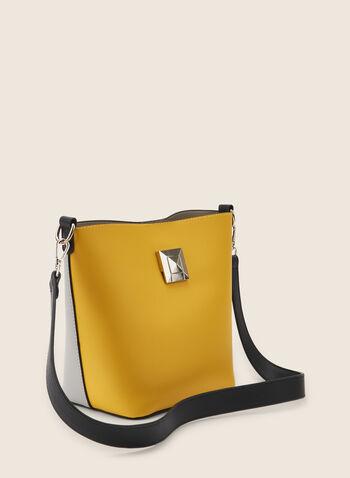 Sac fourre-tout deux tons, Jaune,  purse, handbang, tote, bag, two-toned, metallic, shoulder bag, spring 2020, summer 2020