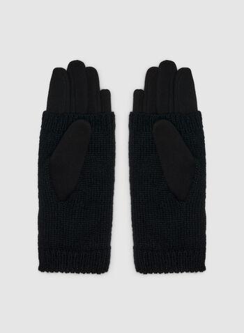 Gants à détails perles, Noir, hi-res,  gants, perles, tricot, automne hiver 2019