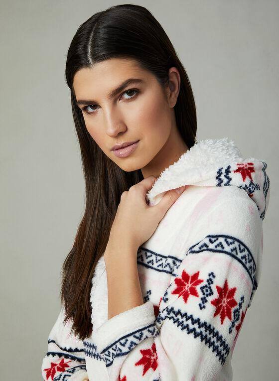 U.S. Polo Assn. - Snowflake Print Robe, White, hi-res