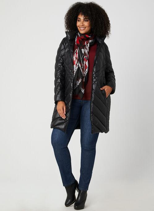 BCBGeneration - Packable Down Quilt Coat, Black, hi-res